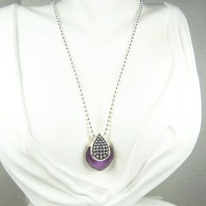 LAGOS Maya Sterling & Charoite Pendant Necklace